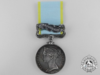 A Crimea Medal 1854-1856 to J. Stewart of the 2nd Dragoons (Royal Scots Greys)
