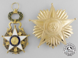 A National Order of Merit of Paraguay; Grand Cross Set