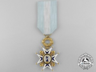 A Spanish Order of Charles III in Gold; French Made Officer's Cross
