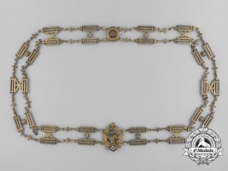 A Collar of the Combined Orders of St. Sylvester and Golden Spur c.1880