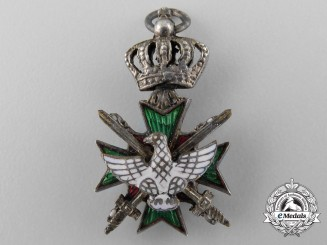 A Saxe-Weimar Miniature Order of the White Falcon; Knight with Swords