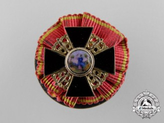 A Fine Miniature Russian Imperial Order of St.Anne in Gold