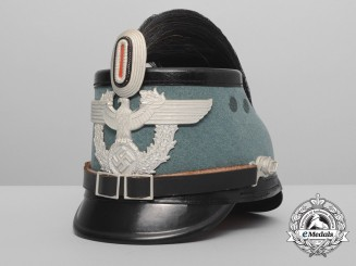 A Mint German Police Enlisted Man's Tschako with Parade Bush