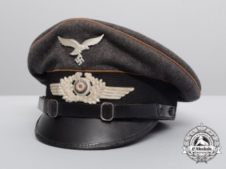 A Luftwaffe Air Communications Corps Visor Cap Named to Radio Operator Albert Maier