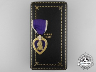 An American Purple Heart to Private First Class Keith E. Meier; United States Marine Corps