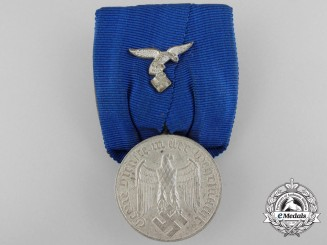 A Luftwaffe Long Service Medal for Four Years; Mounted