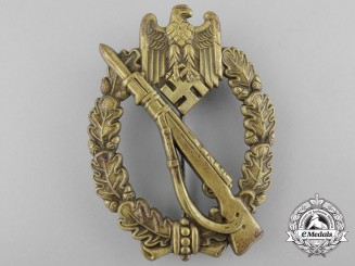 A Fine Quality Bronze Grade Infantry Badge in Tombac