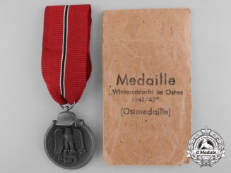 A 1941/42 East Medal with Packet by  Klein & Quenzer
