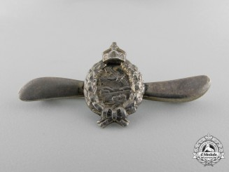 A German Imperial Miniature Pilot's Badge Dated July 1917