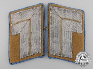 A Set of Orts Level Stellenleiter Administrative Position Collar Tab Pair