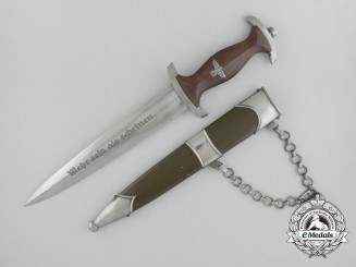A Rare National Political Educational Institute Chained Leader's Dagger by Karl Burgsmuller
