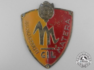 An Italian Youth of the Lictor Matera Fascist Membership Badge