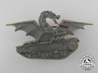 A Second War Italian Tank Badge; First Version