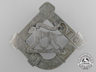 A Fitzgerald Scottish Clan Badge in Sterling