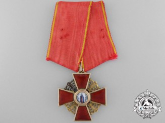 A Russian Imperial Order of St. Anne in Gold, 3rd Class by Ivan Kuzmich Yashin, Moscow