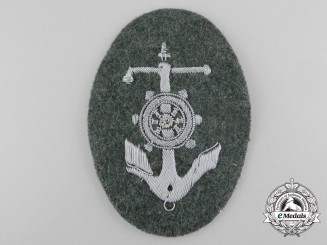 An Army Steuermanns Qualification Sleeve Badge; River Crossing