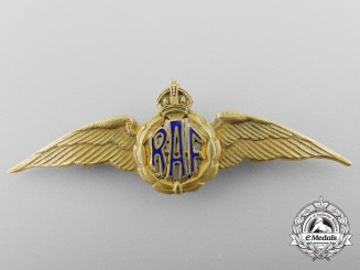 A Canadian Made RAF Gold Pilot's Wing