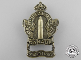 A First War Canadian Imperial Munitions Board Woman Worker with Six Months Service Bar