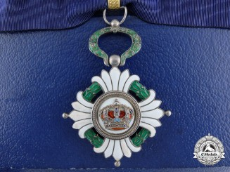 An Order of the Yugoslavian Crown; Third Class Commander with Case