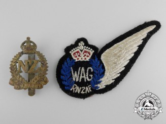 Two Second War Royal New Zealand Air Force Insignia