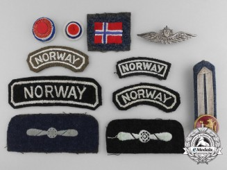 A Lot of Second War Royal Norwegian Air Force Insignia
