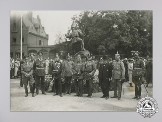 A Fine Large First War Photo of High Ranking German Officers