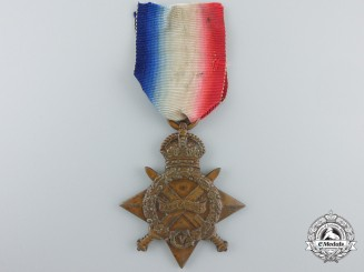 A 1914-15 Star to the No. 2 Stationary Hospital; Canadian Army Medical Corps