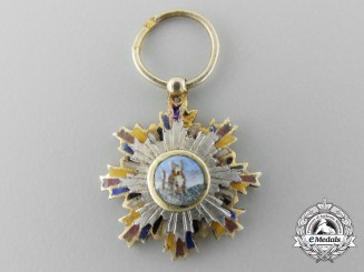 A Miniature Chinese Order of the Striped Tiger; Breast Star c.1900