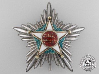 A Moroccan Order of Ouissam Alaouite; First Class Star