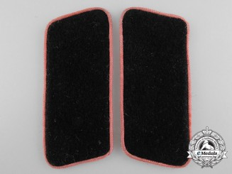A Pair of Collar Tabs Insignia for Panzertruppe