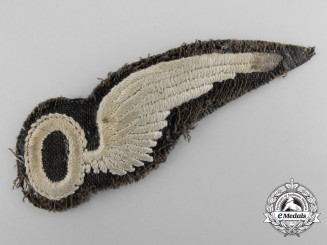 An Early Royal Air Force Observer Wing; Uniform Removed