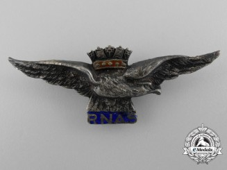 A Royal Naval Air Service Silver Sweetheart Badge; Published