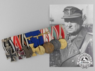 The Medal Bar of General KC Recipient Friedrich Wihelm Neumann; Commander of the 712th Infantry Division