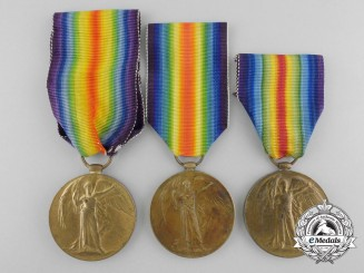 Three Canadian First War Victory Medals