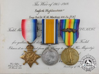 A First World War Group to Remount Section Rider & Captain Mackay; Seaforth Highlanders