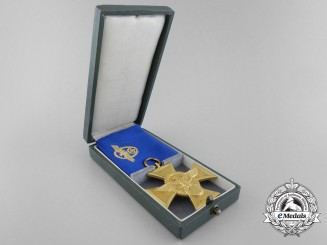 A German Police Long Service Cross; 1st Class with Case by Alois Rettenmaier