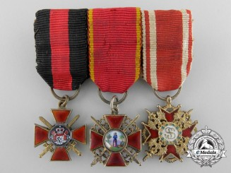 A Miniature Imperial Russian Group of Orders