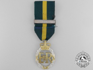 A QEII Efficiency Decoration with Canada Bar to Lt. Col. Laing