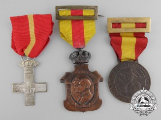 Three Spanish Medals, Orders, and Decorations