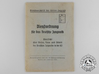 A 1941 Official Regulations Book for the German Young People