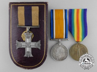 A First War Military Cross Grouping to Lieutenant McDonald for Leadership & Gallantry at Cambrai