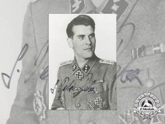 A Post War Photo & Signature of Unknown SS Officer; KC Winner