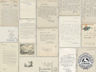 Nine Letters & Cards to the Commandant at Trent Park from General Hermann-Bernhard