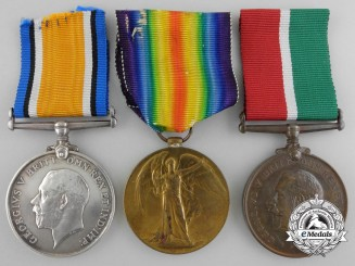 A First War Marine Medal Group to the Mercantile Fleet Auxiliary