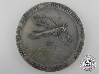 A German Air Sport Stuttgart Mayor's Medal for the 25th Jubilee of the Monoplane Flight at Cannstatter Wasen