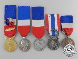 Five French Honour Medals