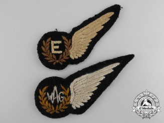 Two Second War RAF/RCAF Wings; Engineer & WAG