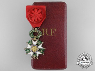A French Legion D'Honneur; Officer with Case