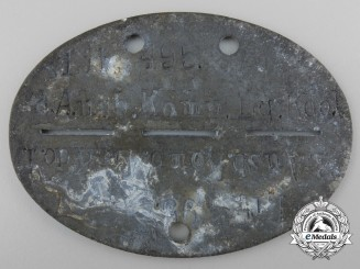 A Second World War Identification Tag; Air Fleet 1 in Lithuania