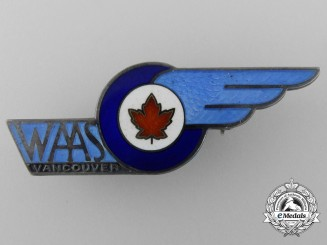 A Second War Women's Auxiliary Air Service (WAAS) of Vancouver Badge